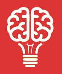 Bombilla en forma de cerebro. Servicios de Terapia de Estimulación Cognitiva a domicilio en Valencia.