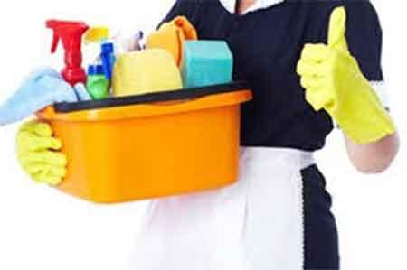 empleada del hogar con utensilios de trabajo. ¿Quién puede considerarse una empleada del hogar?