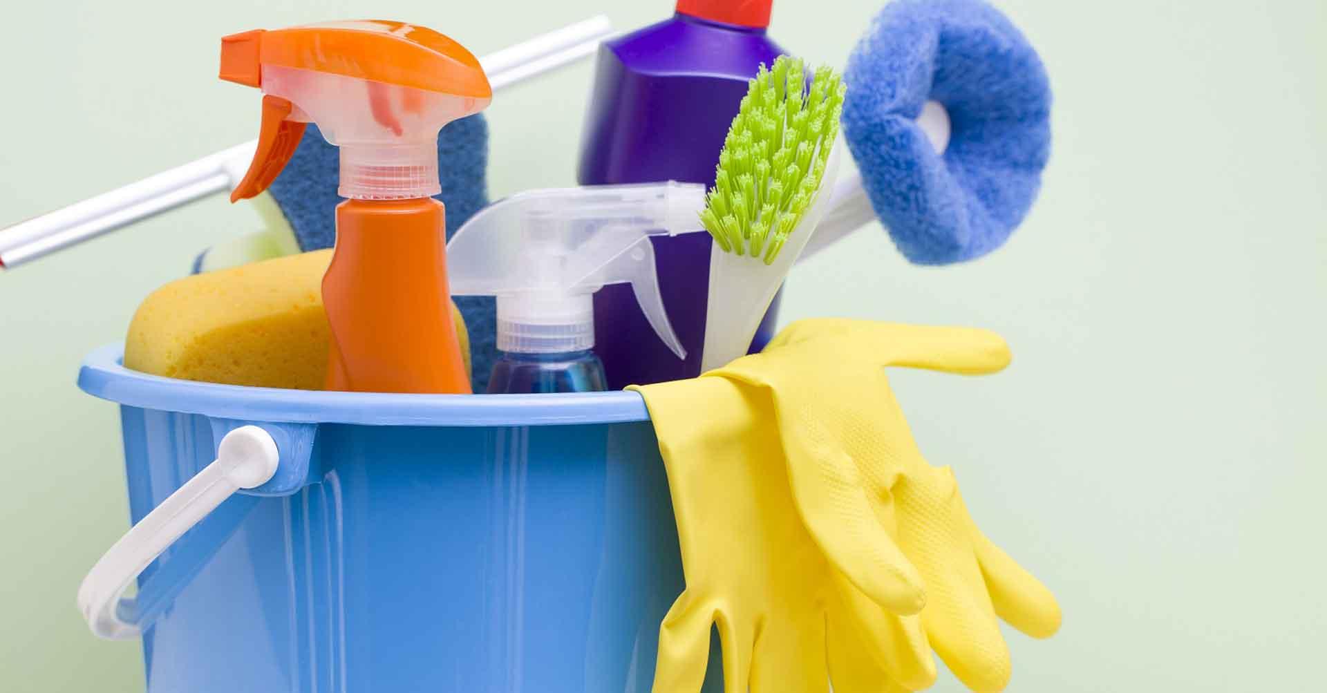 herramientas de los trabajadores del servicio doméstico.
