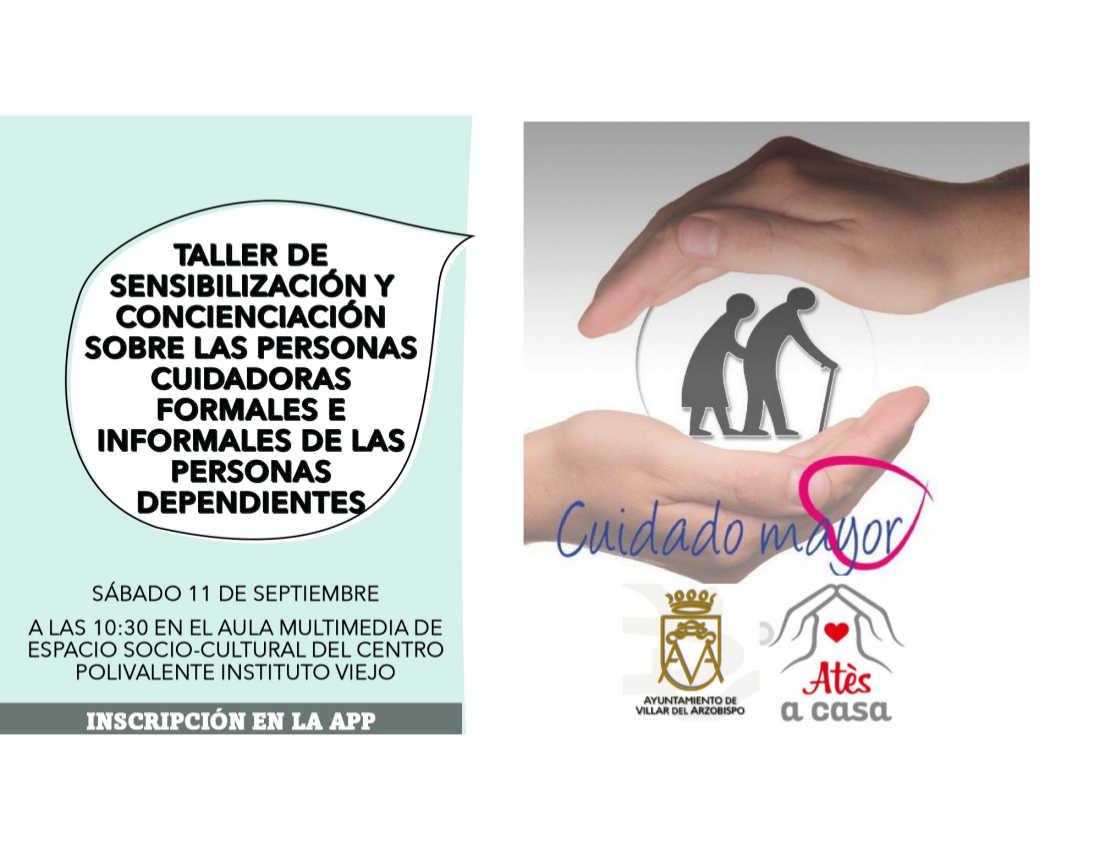 Taller cuidadores personas dependientes en Villar del Arzobispo